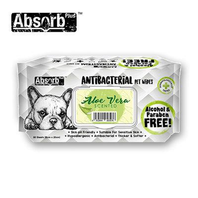 SNOW的家【訂購】Absorb Plus 寵物用抗菌濕紙巾 6種香味-蘆薈香 (11090036
