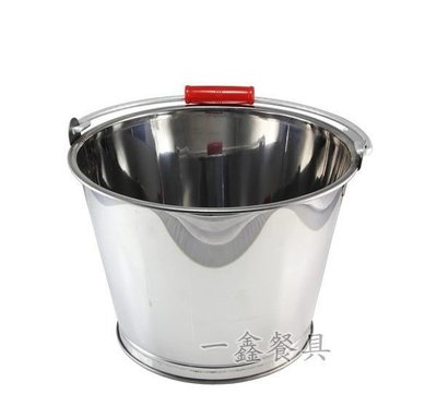 一鑫餐具【白鐵水桶 32公分】ST水桶熱水桶湯桶不鏽鋼水桶不銹鋼水桶