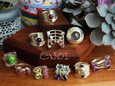 精緻life 加州設計師系列 原創 幾何隨行 碧璽水晶原石S925銀戒指