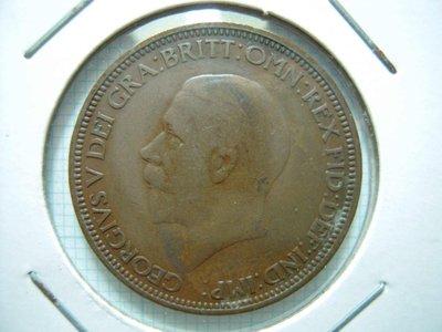 英國.Half Penny.1932年