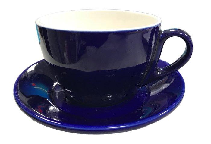 【無敵餐具】陶瓷拿鐵咖啡杯400cc(8色)咖啡杯/黑咖啡/馬克杯 量多可來電洽詢【A0186】
