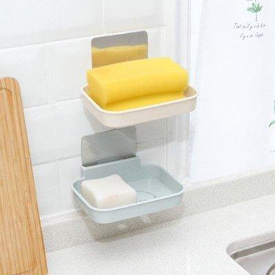 ♣生活職人♣【P408】笑臉無痕貼壁掛式肥皂盒 衛生間 浴室 廚房 強力 無痕貼 香皂托 瀝水架