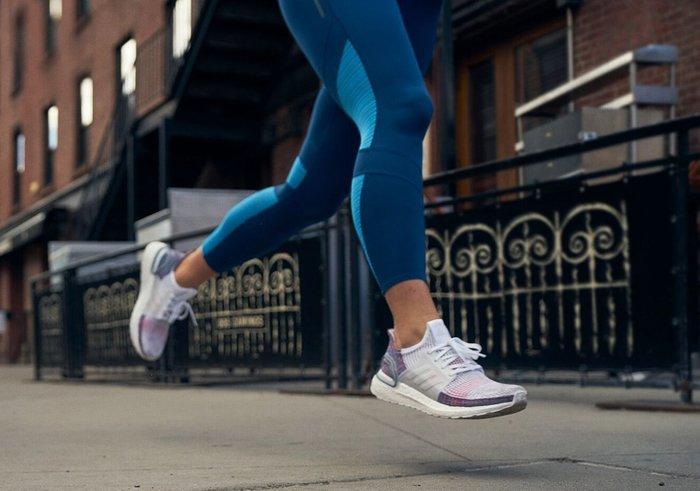 Adidas ULTRA BOOST 19 白灰 彩虹 編織 針織 馬牌 休閒 慢跑 男女鞋 B37708