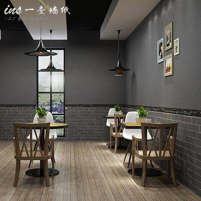 哇塞壁纸自粘加厚立體復古磚紋壁紙早餐飯店面館餐廳小吃店文化磚背景墻紙小猪哇塞