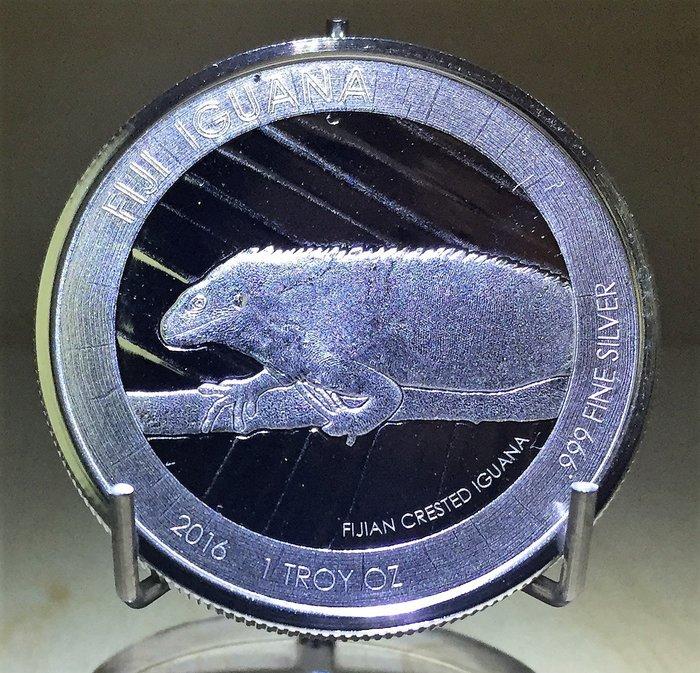 2016 Iguana 斐濟鬣蜥銀幣 (1 toz)