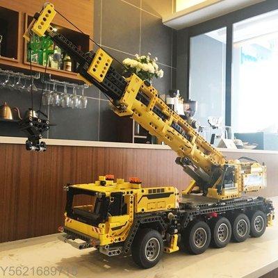 - 樂拼20004 KING90004 科技系列 重機吊車 電動吊車 起重機 相容樂高42009 LEGO