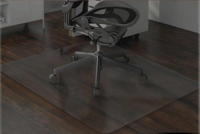 【奇滿來】透明木地板保護墊 80*80CM 厚2mm 門墊 電腦椅地墊 地毯保護墊 轉椅墊 書桌椅墊 AFBQ