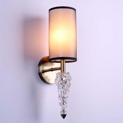 米蘭設計師設計冰錐水晶壁燈意大利簡約現代風格壁燈客房壁燈