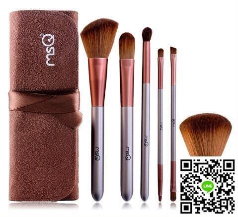 6支雙頭化妝刷套裝 初學者便攜全套化妝刷子工具眼影刷