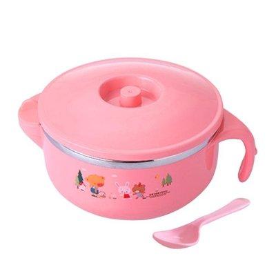 小孩吃飯碗嬰兒輔食碗寶寶餐具碗兒童碗防摔帶蓋勺