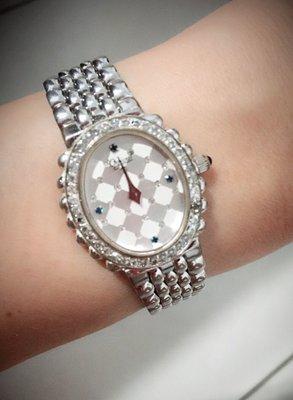 《Ogival愛其華》施華洛世奇水鑽淑女錶@絕版特賣~保證專櫃正品