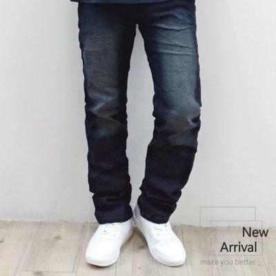 『PINK服飾』彈力修身 電繡設計款 刷白 伸縮牛仔長褲 28~36腰#5556