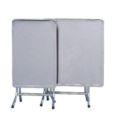 【龍來傢俱 】**14U584-14 不鏽鋼2x3尺折合桌~{滿5仟,大台北地區免運費}~