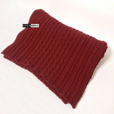 【張開先生】日本帶回 DAKS x Scott&Charters 麻花毛線圍巾
