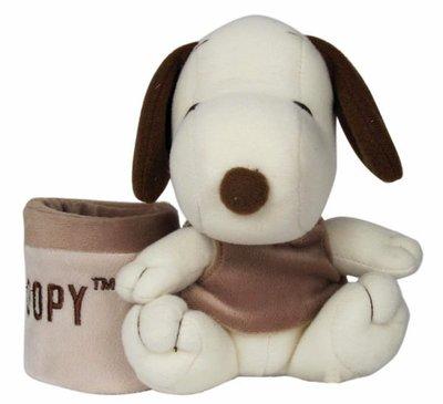 【卡漫迷】Snoopy 手機座 ㊣版 史奴比 史努比 MP3座 iPod座 絨毛玩偶 ~ 2 9 9 元