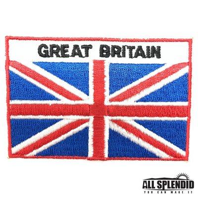 英國 United Kingdom 全繡 繡布貼 國旗 布貼片 布藝 刺繡貼 背膠 燙布貼 外套 燙貼布