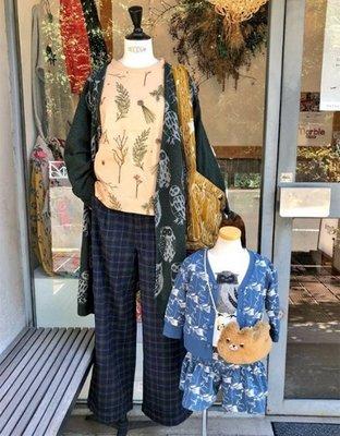  The Dood Life Marble SUD EMB Branch ボクシーBL  / 小松鼠針葉 七分袖 刺繡衫