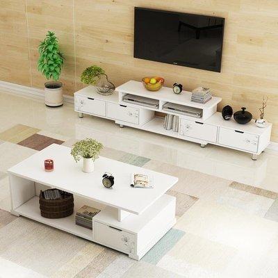 哆啦本鋪 茶幾 電視櫃 電視櫃 伸縮組合電視櫃仿烤漆電視機櫃現代簡約客廳地櫃 D655