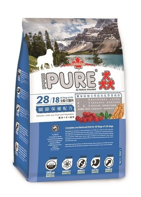 COCO【送150+免運】加拿大PURE28猋成犬雞肉配方(關節保健配方)20kg~此繁殖包為公司原廠白色袋裝