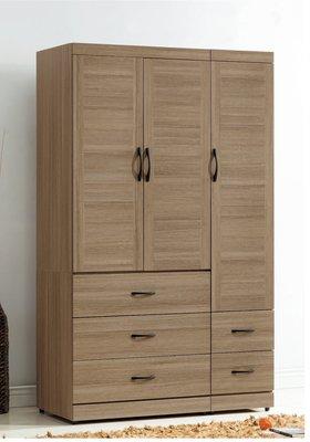 【南洋風休閒傢俱】精選時尚衣櫥 衣櫃 置物櫃 拉門櫃 造型櫃設計櫃-古橡4尺衣櫥 CY180-479