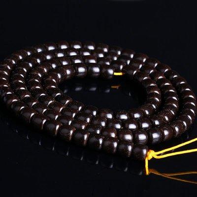 椰蒂素珠藏式打磨手工老料椰蒂108顆佛珠純手工椰殼手串