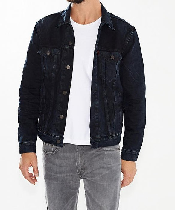 「NSS』LEVI'S LEVIS DENIM JACKET 18930 0002 黑水洗 內裡 牛仔外套 S M