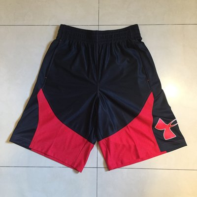 全新正品Under Armour HeatGear  UA 黑紅 球褲 非NIKE Jordan Kobe Curry