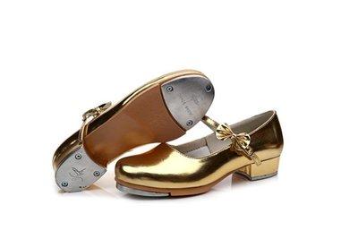 踢踏舞鞋新款女童少兒成人女款直底踢踏舞鞋金銀白紅黑可選