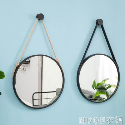 鏡子 洗手間鏡子掛鏡浴室鏡化妝鏡壁掛圓鏡裝飾鏡衛生間鏡子梳妝鏡北歐  全館免運 YYJ