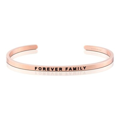 MANTRABAND 美國悄悄話手環 FOREVER FAMILY 永遠的家人 玫瑰金手環