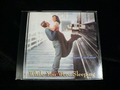 古玩軒~二手CD~while you were sleeping.二見鍾情電影原聲帶.珊卓布拉克.比爾普曼.PK223