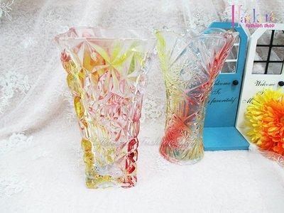 ☆[Hankaro]☆創意流行漸層花紋玻璃花瓶(樣品出清)