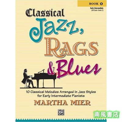 Cl書籍 知識 管理assical Jazz, Rags & Blues, Book 1 Alfred 00-28987 MarthaK2808