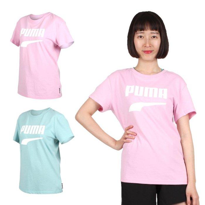 PUMA Downtown 女流行系列短袖T恤(慢跑 路跑 短T【03312965】≡排汗專家≡