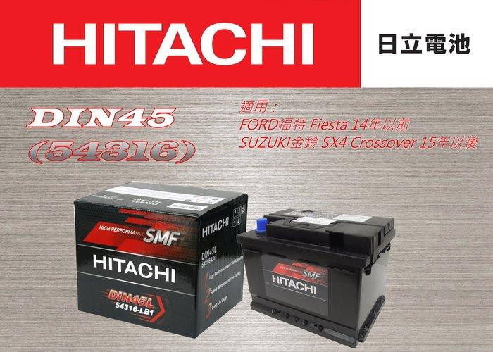 奔寶國際 日立HITACHI電瓶 DIN45 適用:Crossblade、Roadster、Fortwo、Forfour