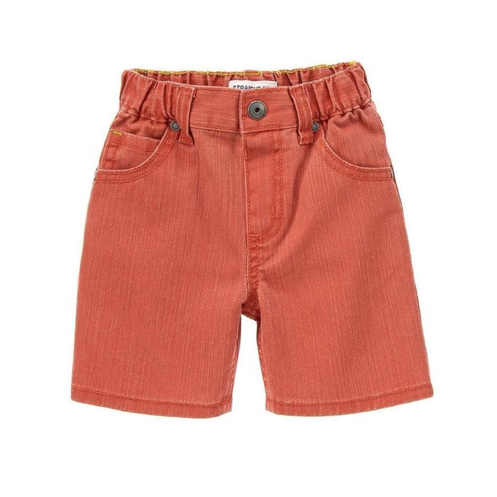 Maple麋鹿小舖 美國購買童裝品牌 GYMBOREE 男童橘紅色牛仔短褲 * ( 現貨2T )