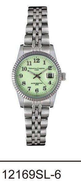 (六四三精品)Valentino coupeau(真品)(全不銹鋼)精準女錶(附保証卡)12169SL-6