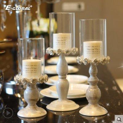 ♣小雅家居♣燭光晚餐道具美式鐵藝複古羽毛燭台擺件布置北歐蠟燭浪漫餐桌家用