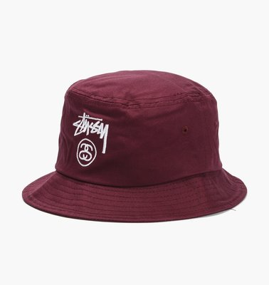 【BELLO】STUSSY Stock Lock SP15 Bucket Hat 漁夫帽 遮陽帽  紅S 132651