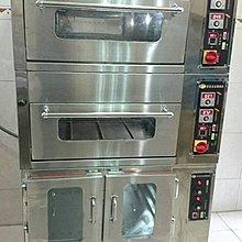 【原豪食品機械】專業客製化 商用烤箱/雙層烤箱/二層二盤專業烘培電烤箱+四層發酵箱(組合式)