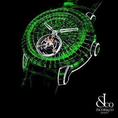 Jacob & Co. 捷克豹 Caviar Tourbillon Emerald Baguette CV201.30.BE.BE.A