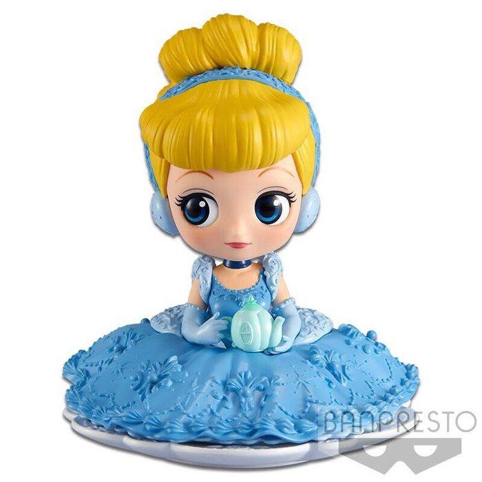 景品 Q POSKET 迪士尼 公主系列 代理 正常色 灰姑娘 仙杜瑞拉 下午茶