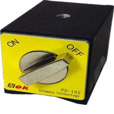 PDOK品牌 PD-102 高品質開關磁力座強力磁鐵線切割磁鐵固定坐磁性表坐 W58 [67517]