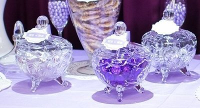[4] 歐式透明造型玻璃盅 糖果罐 收納罐 居家佈置 婚禮佈置 下午茶 CANDY BAR
