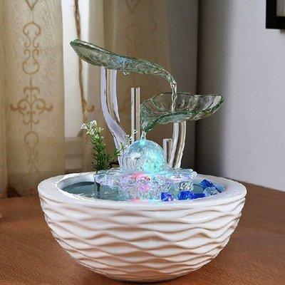 5Cgo【宅神】含稅會員有優惠 38947586743 時尚客廳風水池玻璃陶瓷流水噴泉擺設風水球水景吧檯辦公 一顆球