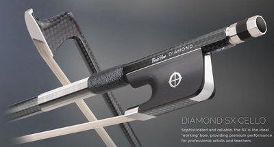皇家樂器~全新美國Coda Bow Diamond SX Carbon Fiber 4/4 大提琴碳纖弓