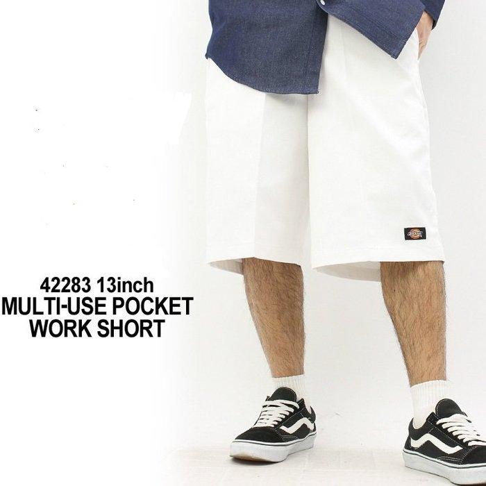 (安心胖) DICKIES 42283 手機袋工作短褲 黑色 白色 42 44 46腰