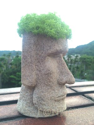 ♤ F@N賣部㍿ ♤ 復活節島石像Moai摩艾 筆筒 擺飾 盆栽造景 菸灰缸 水族箱