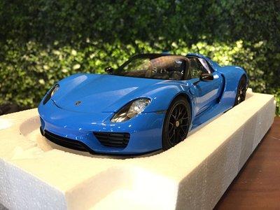 1/18 Autoart Porsche 918 Spyder Weissach Package Blue【MGM】