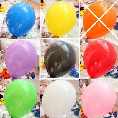 氣球大特價~特價10吋普通亞光素面普通圓型氣球批發-100入/包 拱門羅馬柱圓形氣球空飄婚佈布置道具